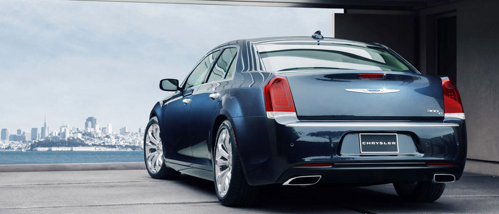 2015 Chrysler 300 back view