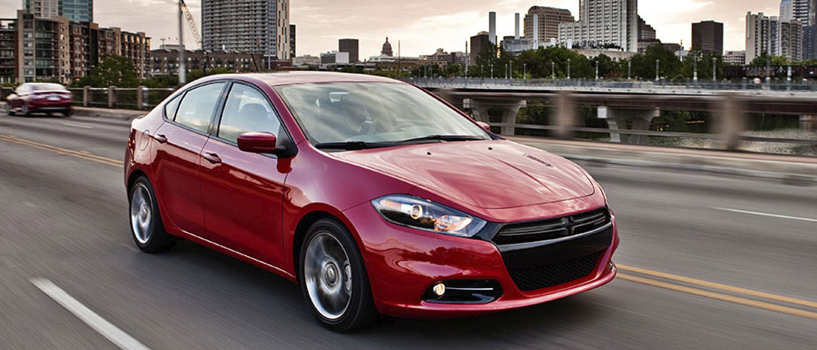 2015 Dodge Dart in red