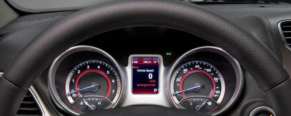 2018 Dodge Journey dashboard close up
