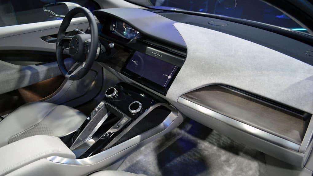 electric Jaguar I pace center console