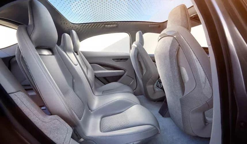 All new Jaguar I pace back seat