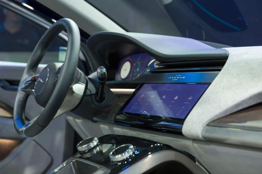 All electric SUV Jaguar I pace interior dash picture