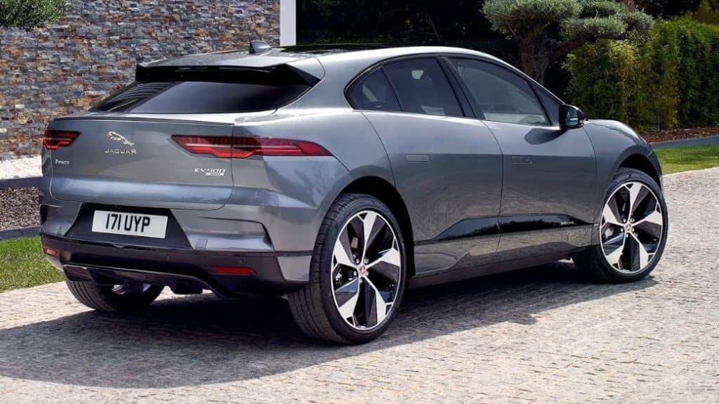 All electric SUV Jaguar I pace exterior rear