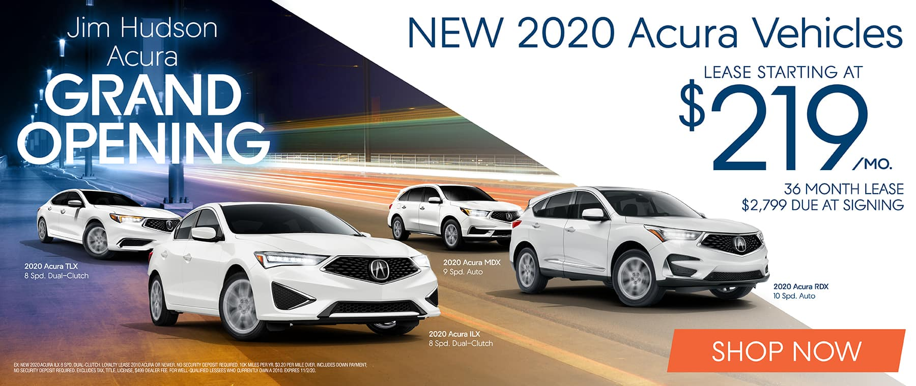 New 2020 Acura Vehicles