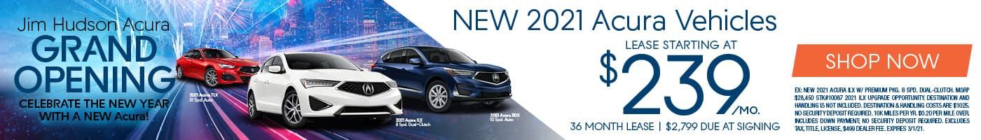 New 2021 Acura Vehicles