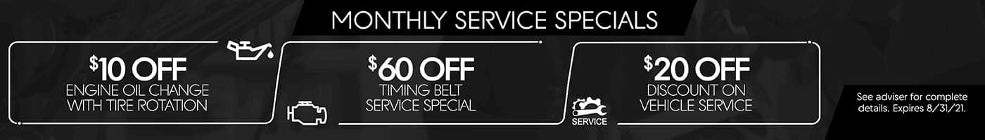 Monthly Service Specials