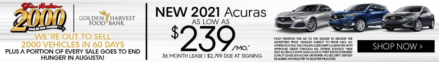 Jim Hudson New Acuras 2021