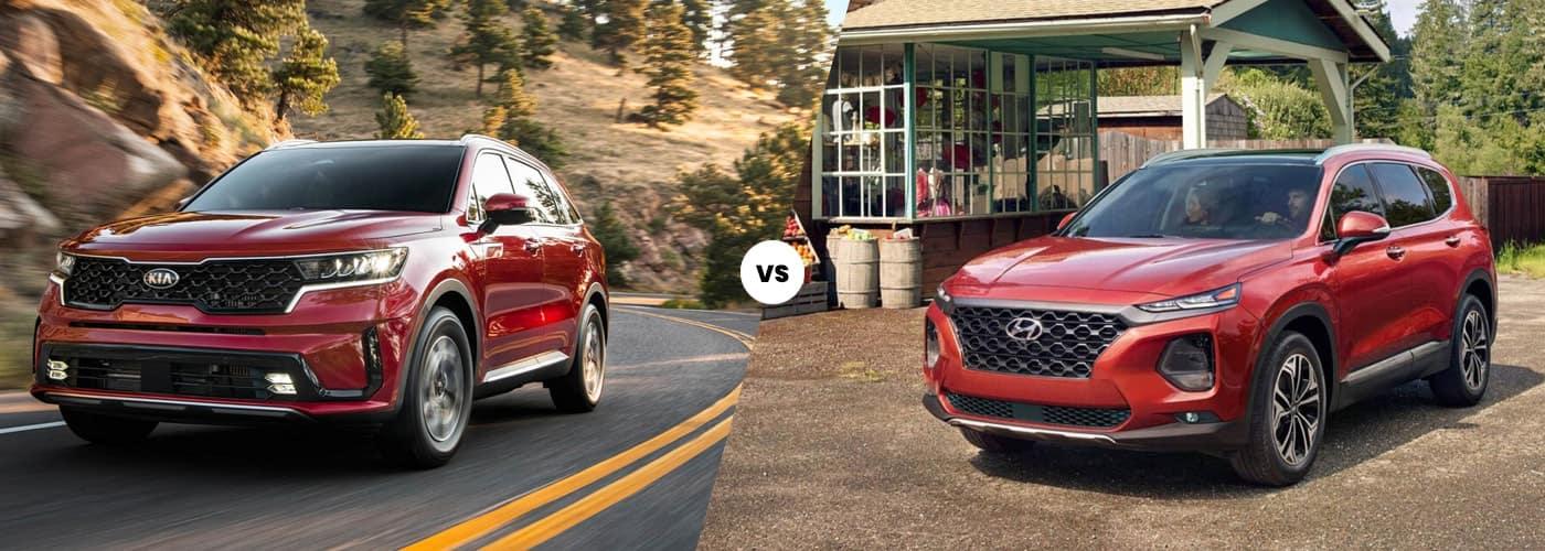 2021 Kia Sorento vs. 2020 Hyundai Santa Fe