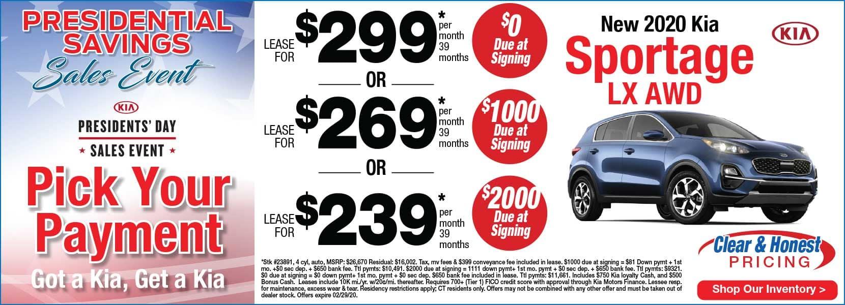Kia Sportage Lease Presidents Day Savings Stamford Connecticut Kia dealer