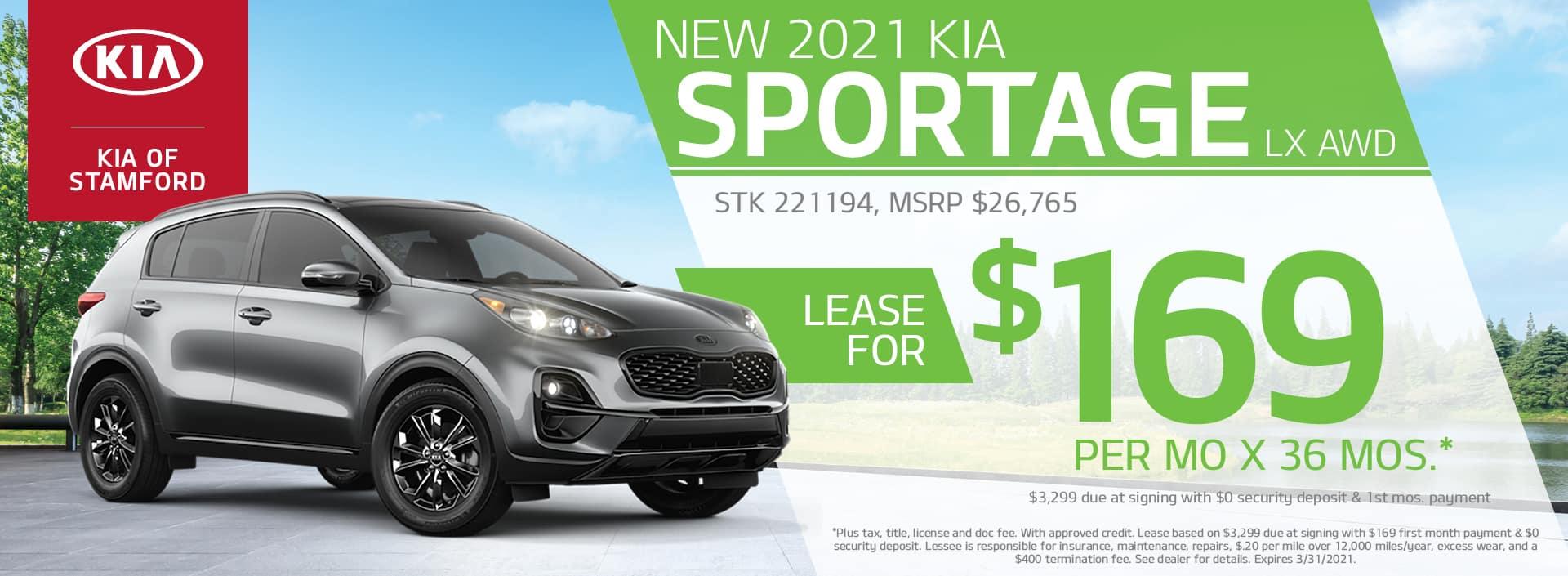 2021 Kia Sportage Lease Offer | Kia Of Stamford