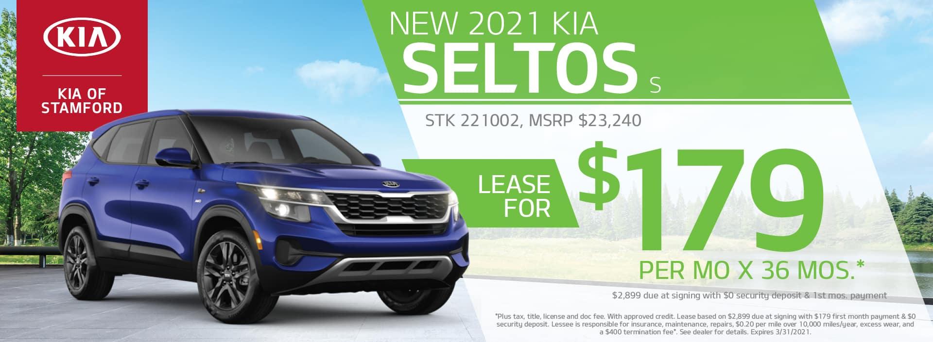 2021 Kia Seltos Lease Offer | Kia of Stamford
