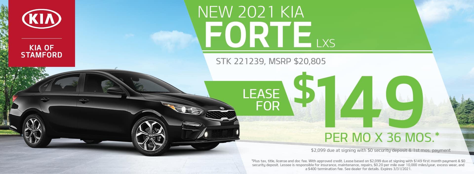 2021 Kia Forte Lease Offer | Kia of Stamford