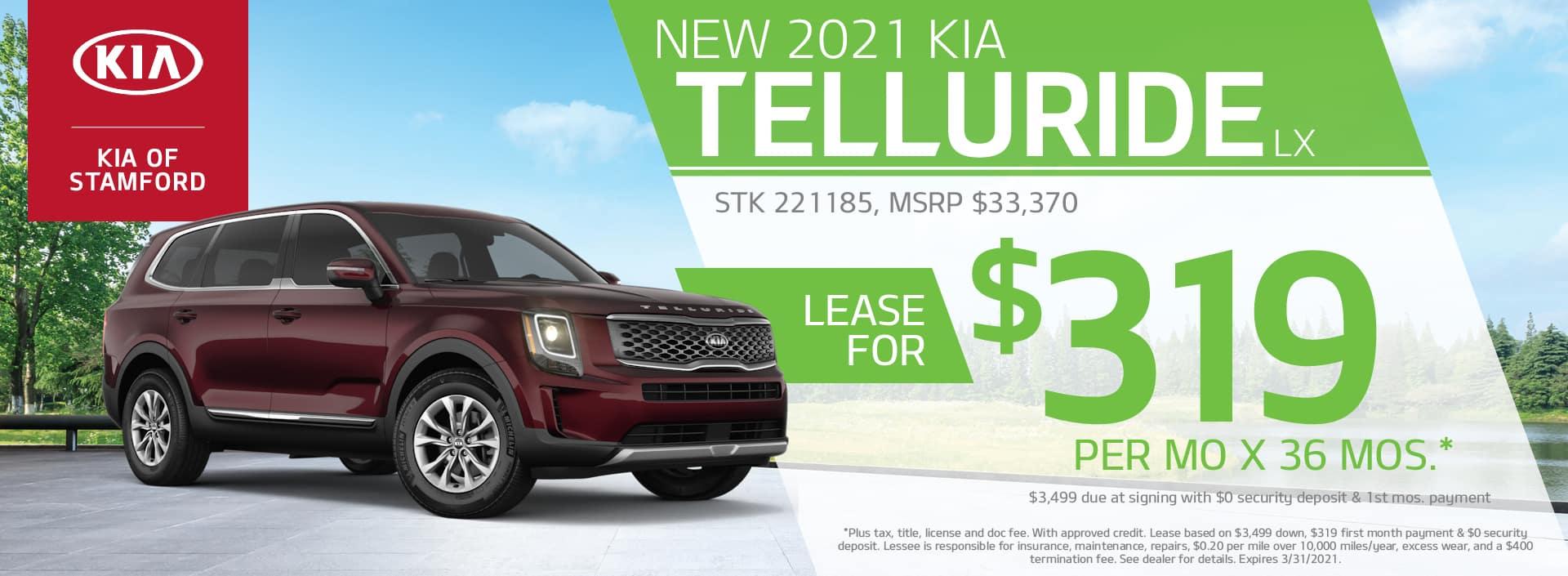 2021 Kia Telluride Lease Offer | Kia of Stamford