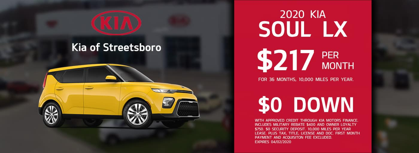 Lease the 2020 Kia Soul LX for only $217 per month!