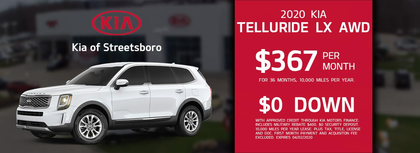 Lease the 2020 Telluride for only $367