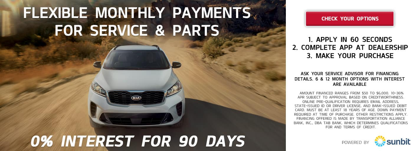 Finance your Service and Parts at KIA of Streetsboro with Sunbit