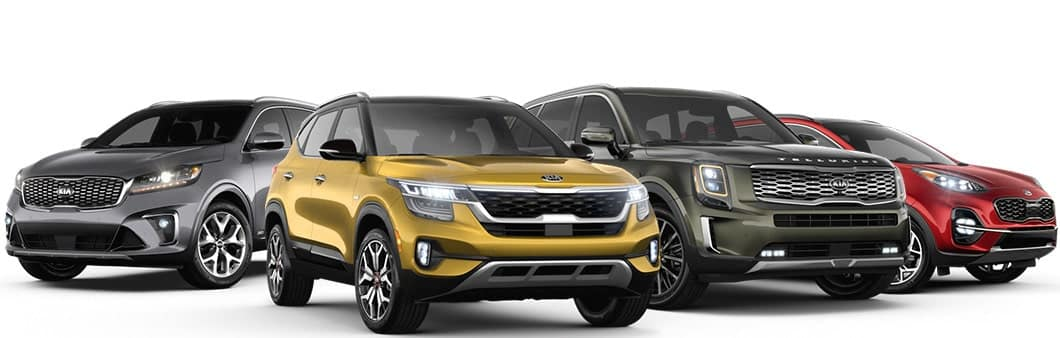 Kia SUV Lineup, including Seltos, Sportage, Sorento, and Telluride