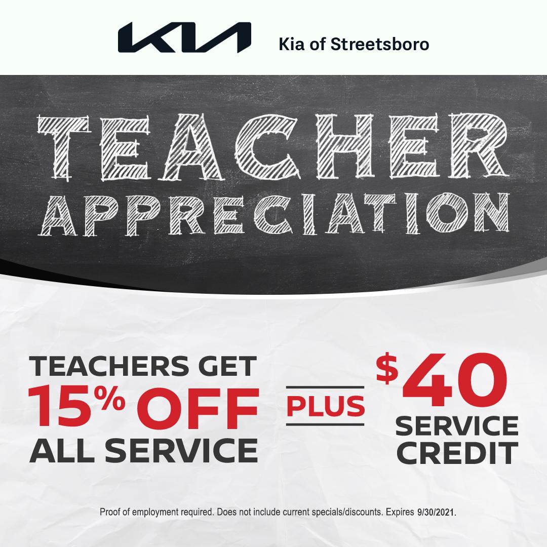 Teacher Appreciation Offer