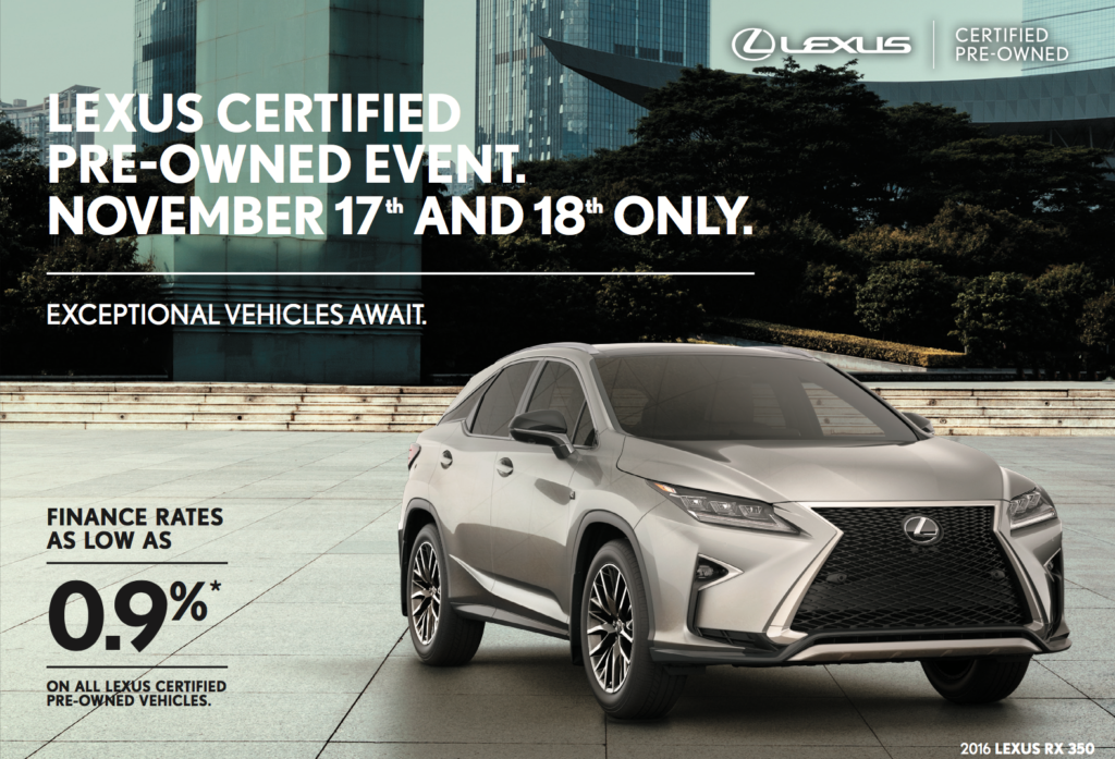Lexus Certified Pre Owned Event