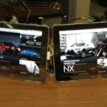 The official Lexus RC and NX apps on our iPads in our circle and VIP Lounges.