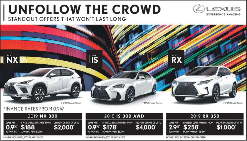 Lexus Edmonton October Promotions