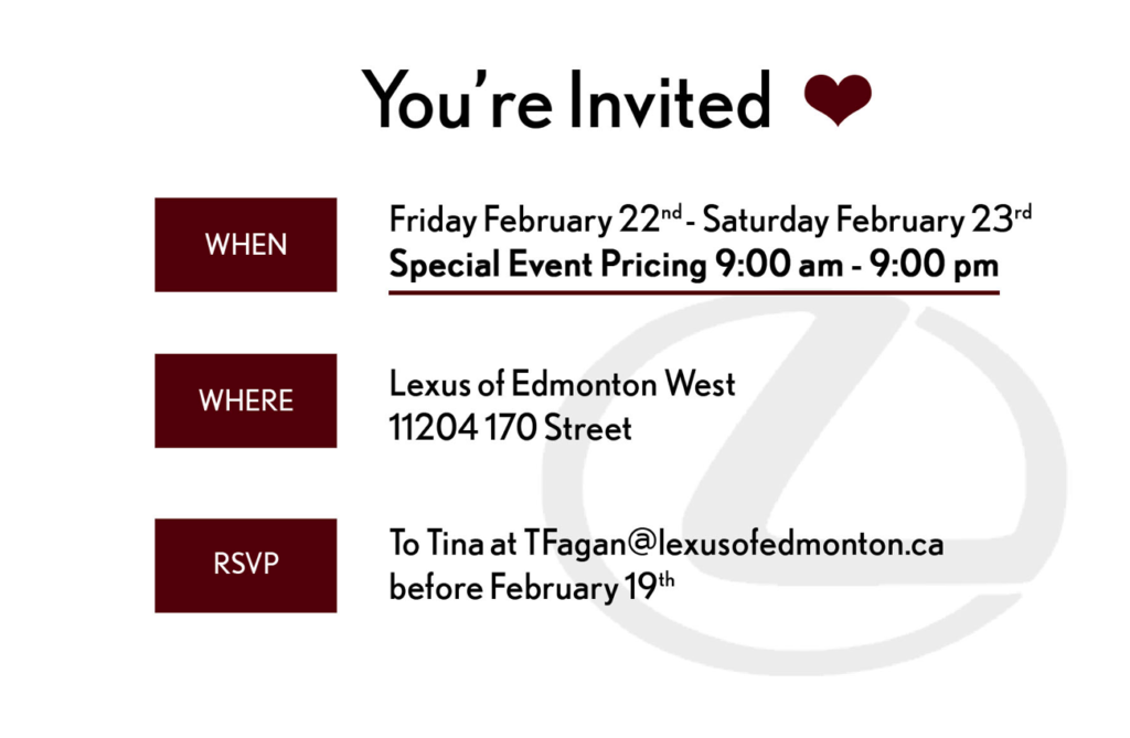 Lexus of Edmonton Private Event