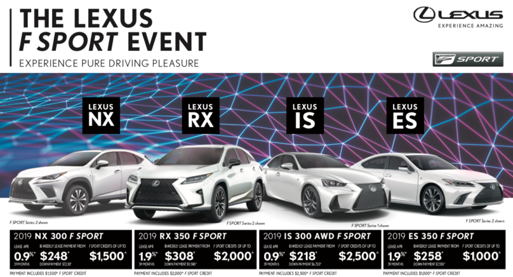 Lexus April Promotions