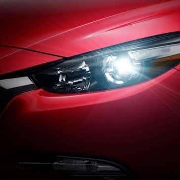 2018 Mazda3 Hatchback Headlight Close Up