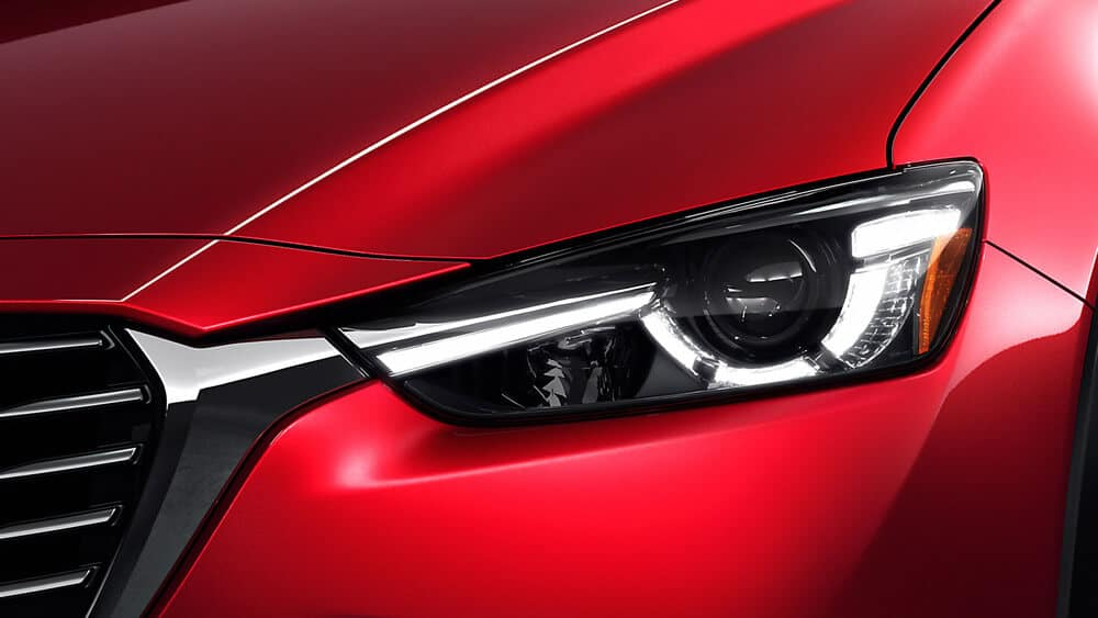 2018 Mazda CX-3 Headlight Closeup