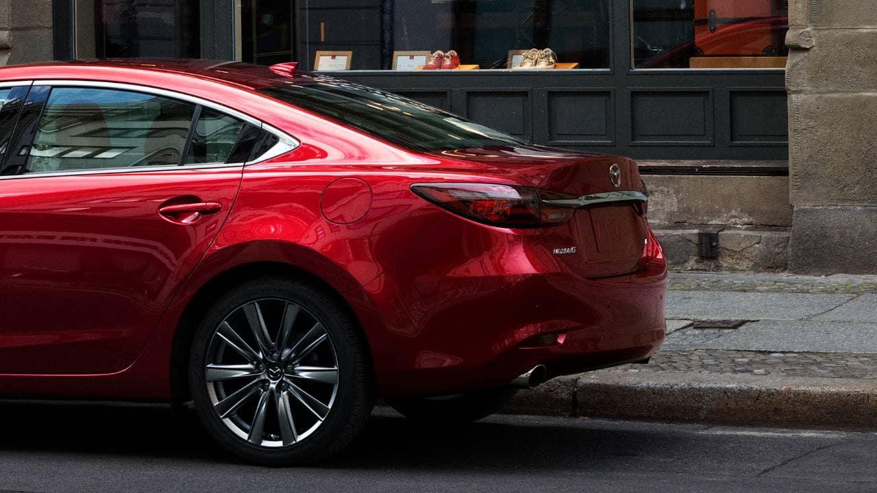 red 2018 Mazda 6 back