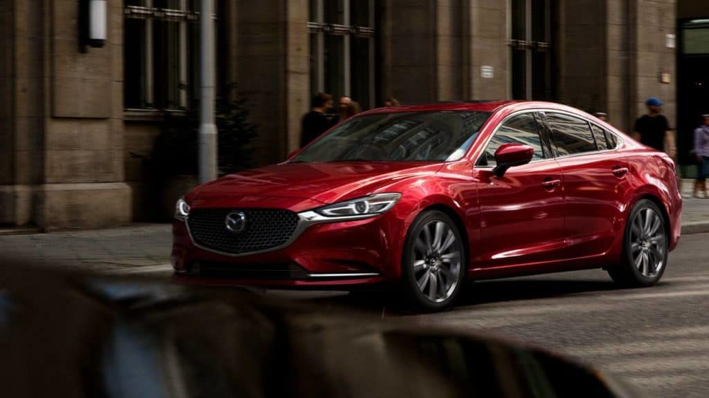 red 2018 mazda 6 headlight