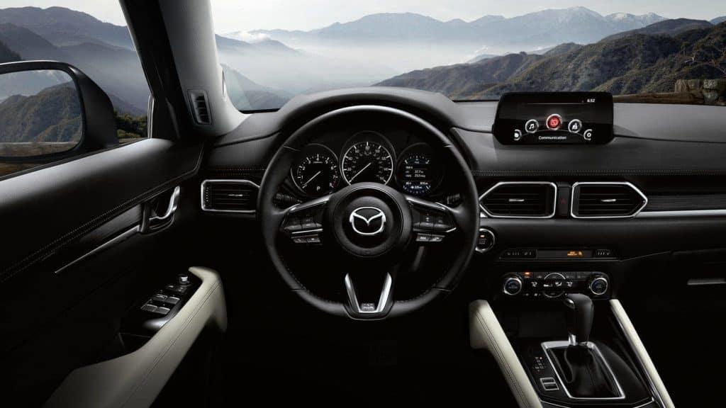 2018 mazda cx-5 dashboard and steering wheel