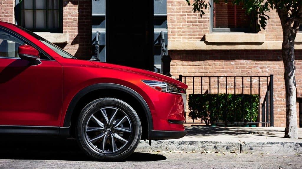 2018 Mazda CX-5 side profile in the street