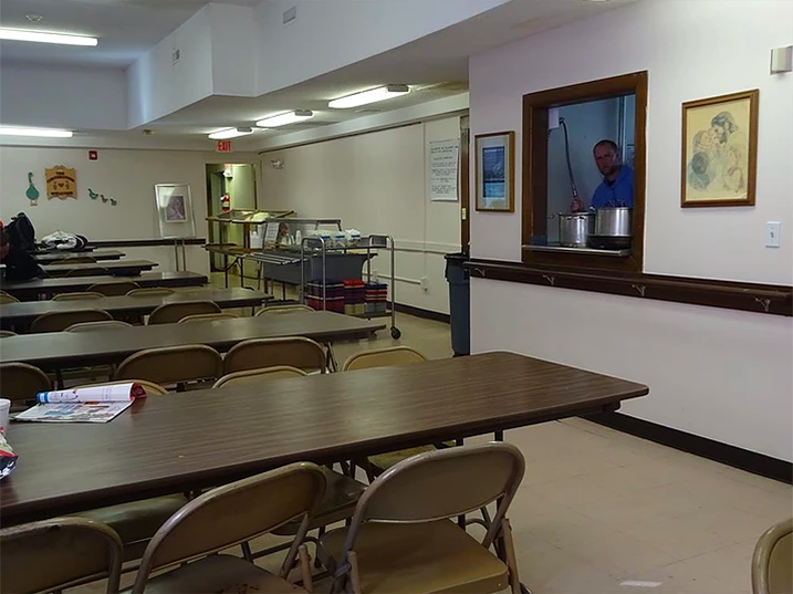 Dining area at Cornerstone Soup Kitchen
