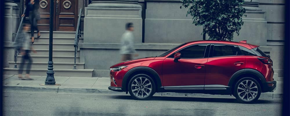 2019 Mazda CX-3 Parked on Side of Street in Front of Apartment Complexes