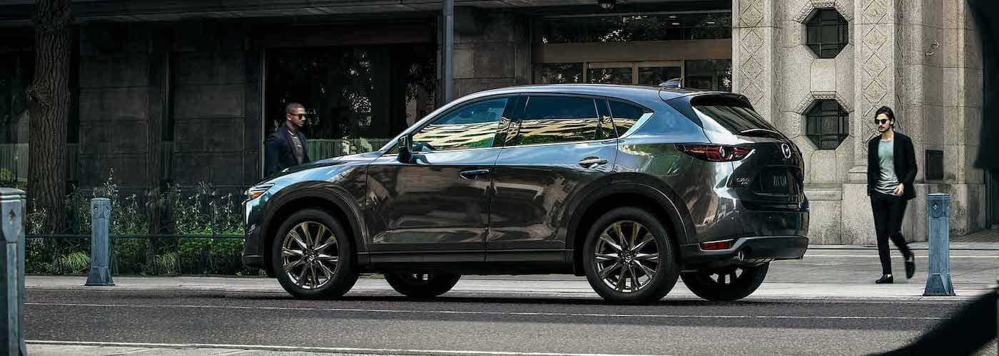 2019 mazda cx-5 silver exterior parked on street