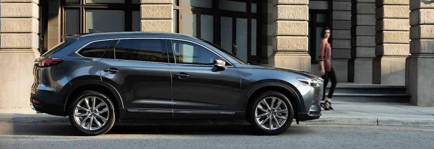 2019 mazda cx-9 grey exterior parked