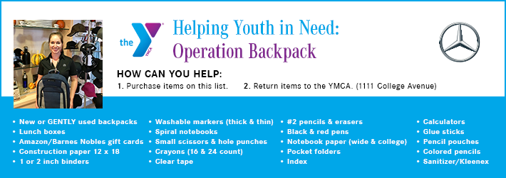YMCA Helping Youth In Need