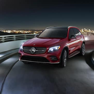 2018 Mercedes-Benz GLC Driving on a Highway Ramp