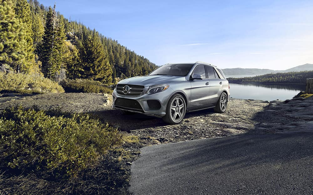 2018 Mercedes-Benz GLE parked by a lake