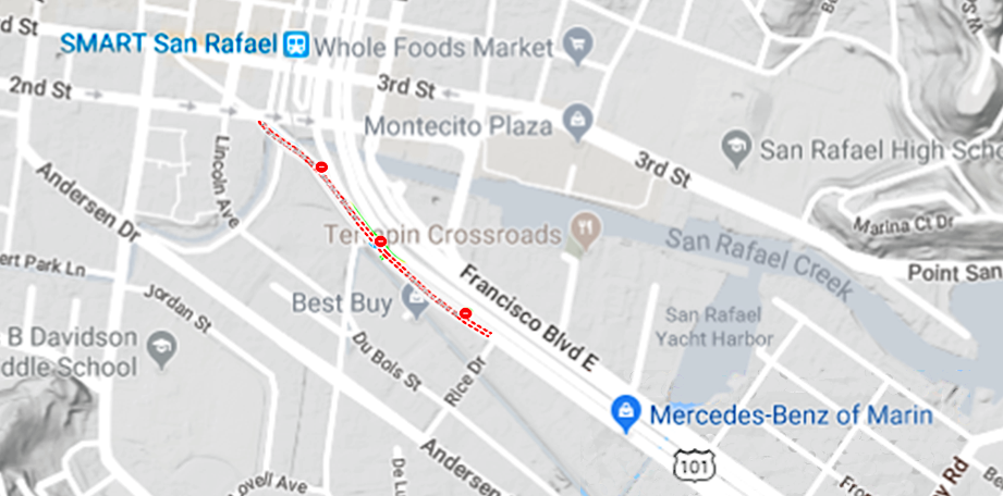 Road Closure - Francisco Blvd W