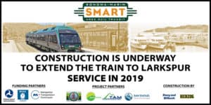 SMART highway sign_Larkspur Extension_Construction to extend the train to Larkspur_72dpi