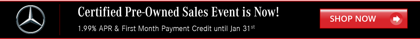 Mercedes Benz Certified Pre-Owned Sales Event
