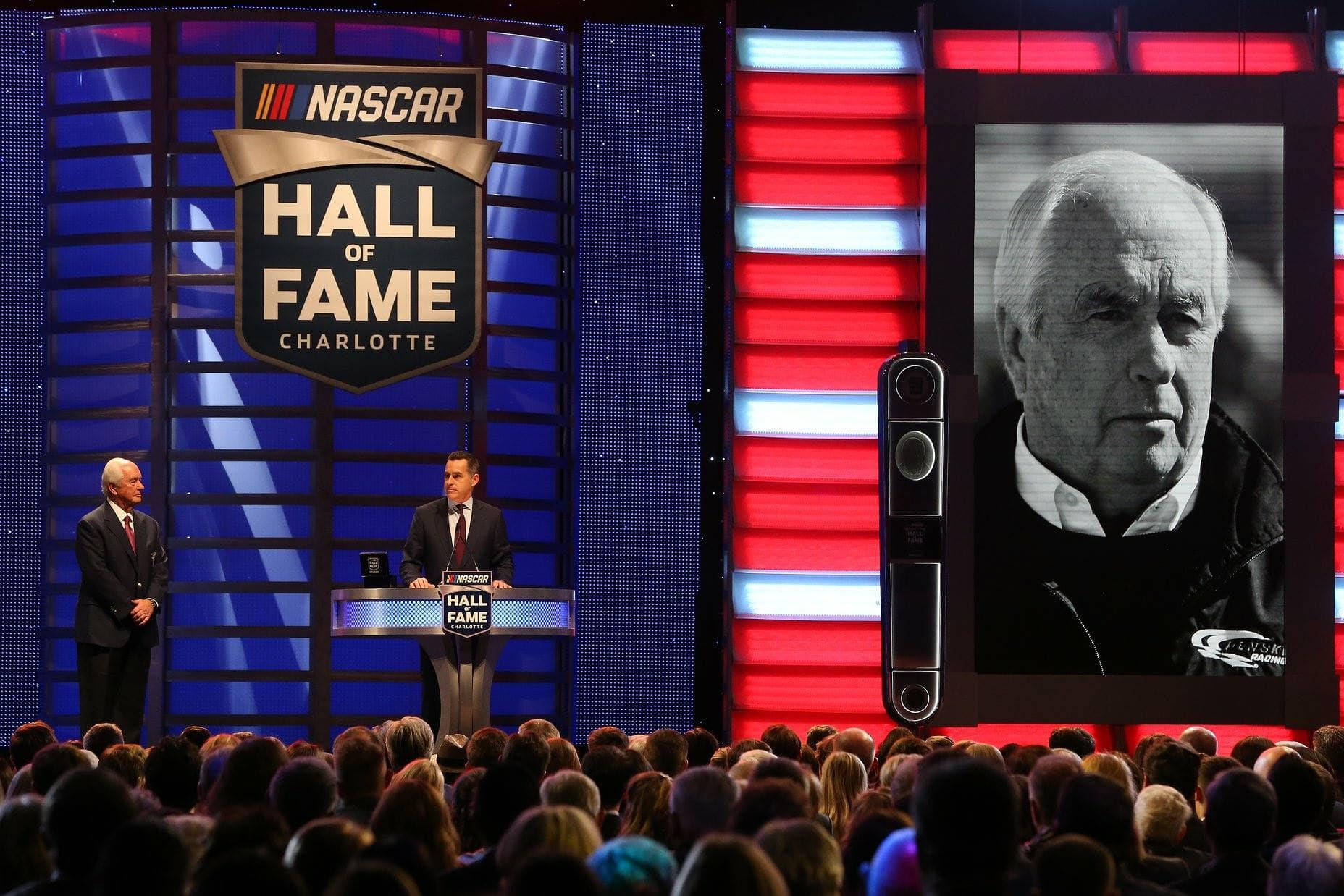 Greg Penske officially inducts The Captain, Roger Penske, into the NASCAR Hall of Fame