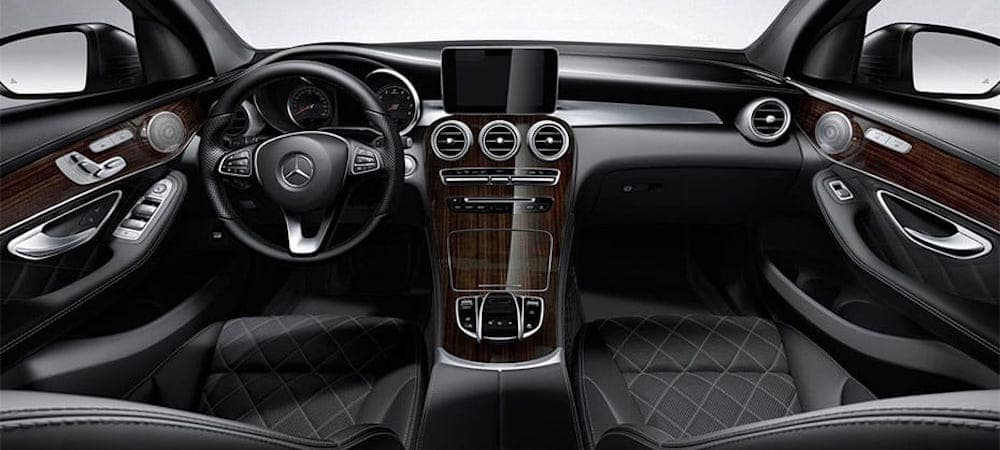 Front seat view of Mercedes-Benz GLC interior