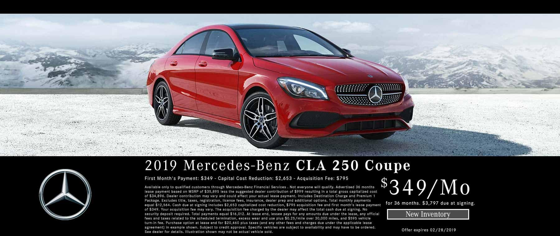 New 2019 CLA 250 Lease Special Bakersfield