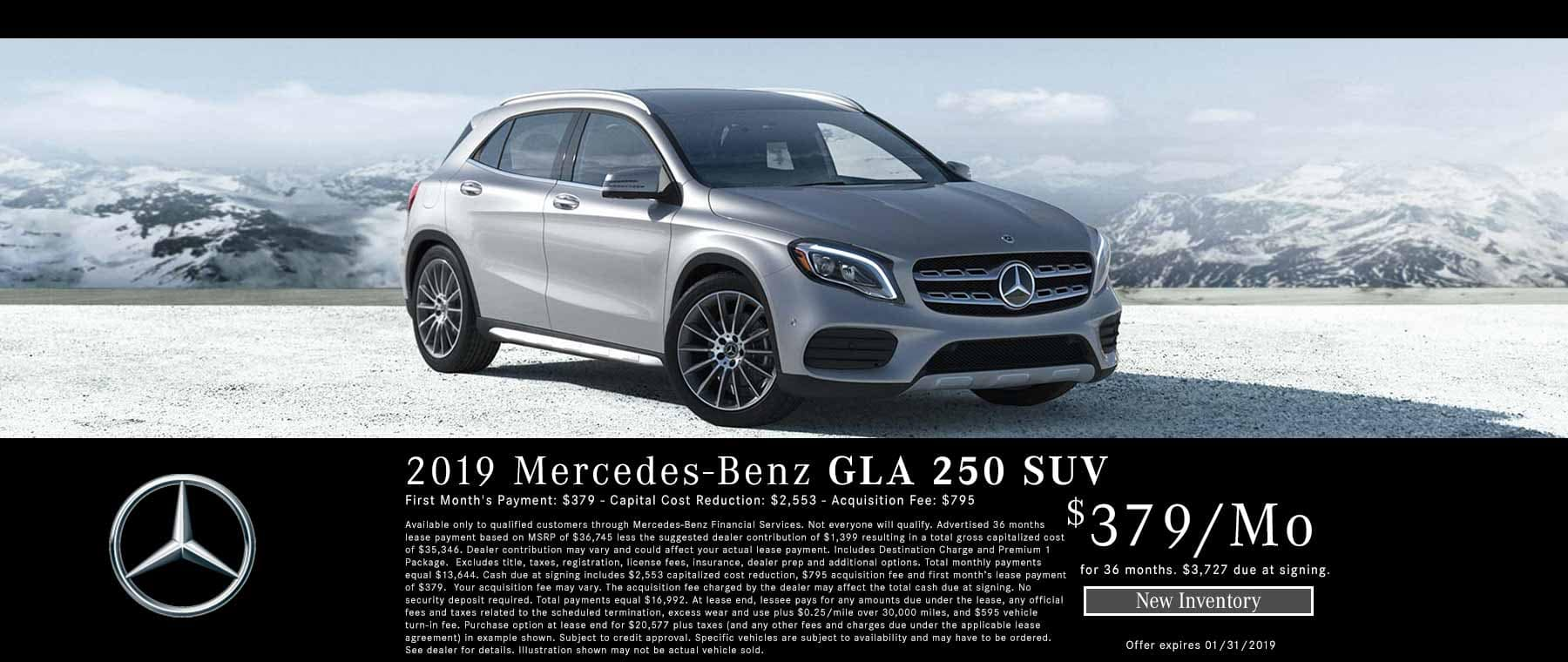 Mercedes GLA 250 4MATIC Lease Offer in Bakersfield