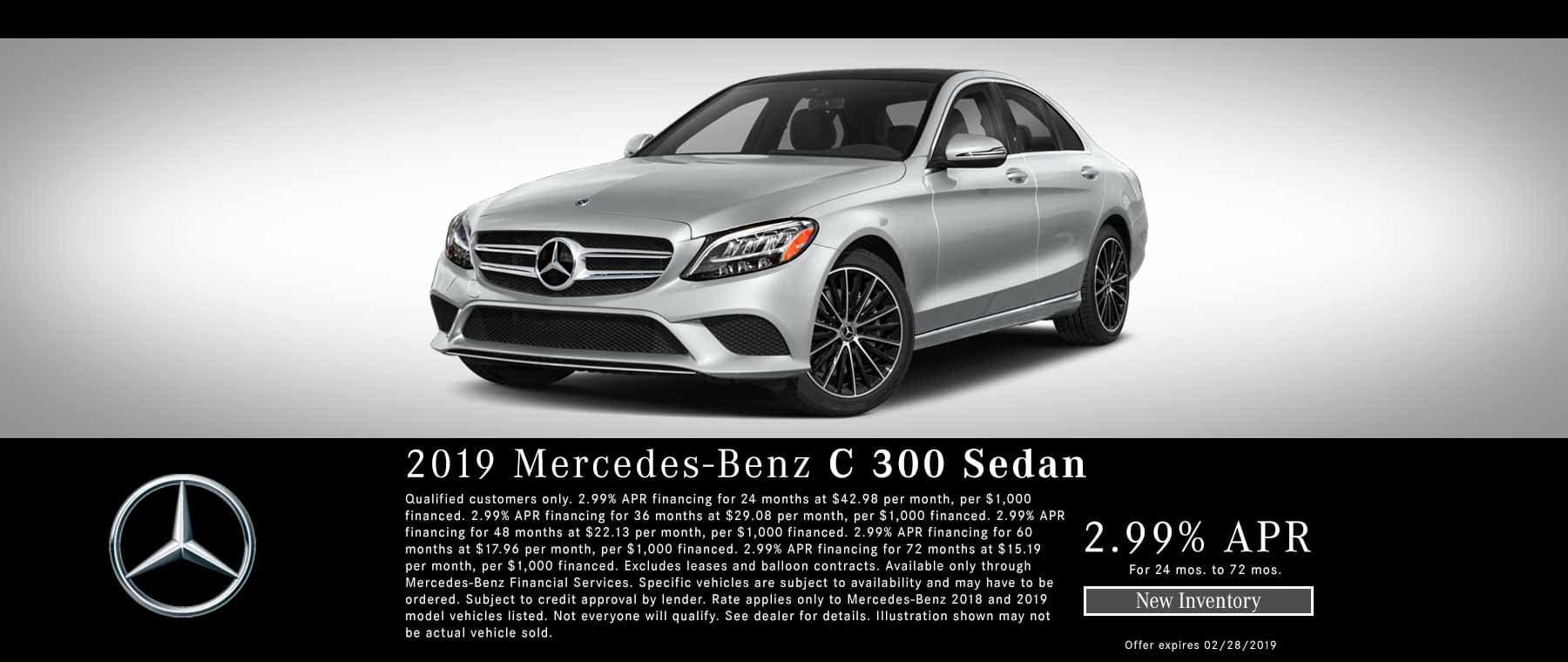 2019 Mercedes C300 FInance Special Bakersfield