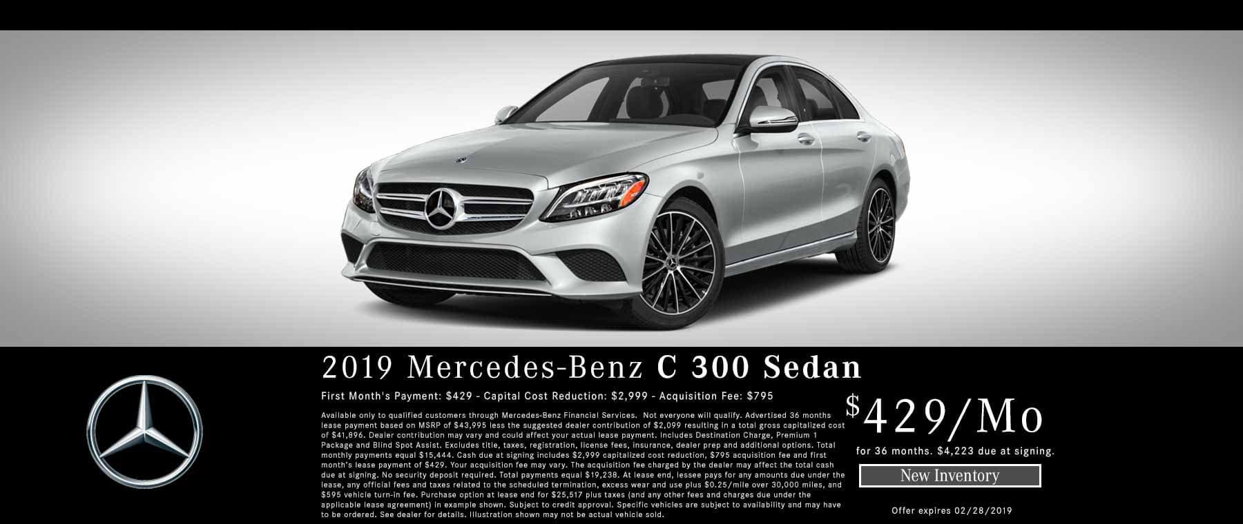 2019 Mercedes C300 Lease Offer Bakersfield