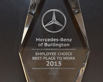 2015 mercedes benz employee choice best dealership to work for Mercedes benz burlington ma